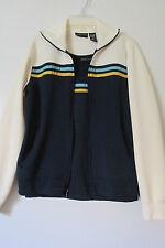 New York & Company Navy Tank Top withFull Zip Striped Jacket 2pc. Set NWOT SZ: S