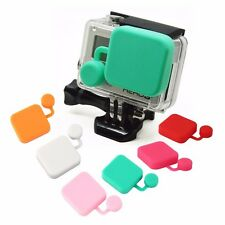 BLACK LENS CAP COVER PROTECTOR FOR GOPRO HERO 3 3+ 4 CAMERA
