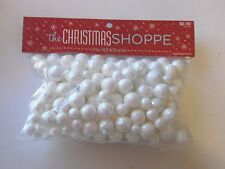 White With Iridescent Pink Glitter Balls Bowl Vase Filler Christmas Decoration