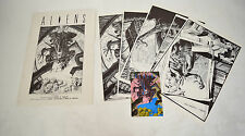 Aliens Portfolio 6 Art Plates Mark Nelson Mini Comic 1 Mark Verheiden