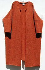 Eskandar FLAME Heavy Weight  Wool Cashmere Knit Long Sweater Coat O/S $2690