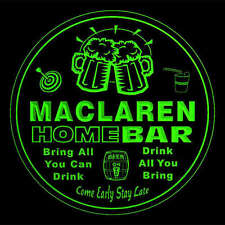 4x ccq27668-g MACLAREN Home Bar Ale Beer Mug 3D Etched Drink Coasters