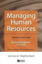 Managing Human Resources: Personnel Management in Transition-ExLibrary