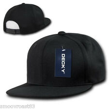 BLACK Air Mesh SNAPBACK HAT Cool Dri Fit Cap plain blank flat bill 6 panel golf
