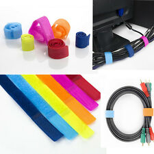 10pc Cable-Wire Organizer Straps, Home Office TV PC Laptop Charger Cord Ties