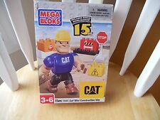 MEGA BLOKS CAT Mini Construction Site - 15 Piece Set - Factory Sealed