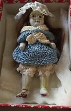 "Antique Porcelain Pin Jointed Doll 4-1/2"" marked Nippon"