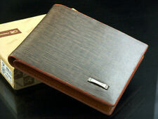 New Men's Leather Wallet Pockets ID Credit Card Clutch Cente Bifold Money Purse