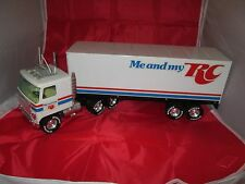 OLD RARE NYLINT RC CROWN COLA SIGN SEMI TRUCK TRAILER PRESS METAL ME & MY VTG