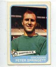 (Lr148-100) ABC Gum, Footballers Yellow Back, #80, Springett, Sheffield W, 1968,