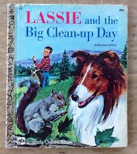 VINTAGE Little Golden Book LASSIE AND THE BIG CLEAN-UP DAY 1971 Children's Book
