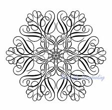 LARGE SNOWFLAKE Cling Unmounted Rubber Stamp IndigoBlu Stamp A6 New Code LS