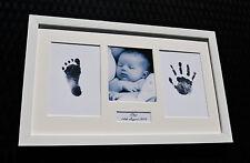 Baby HAND PRINT impronta & Bianco Foto Cornice Kit Baby Shower Regalo