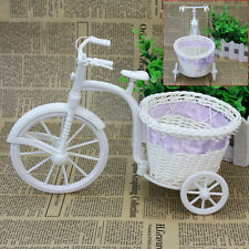 Plastic Tricycle Bike Basket for Flower Vase Storage Decoration Gift Fashion