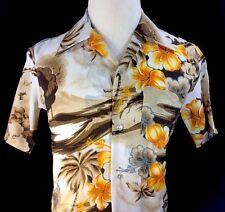 Hawaiian Shirt Vintage 1970s Pomare Made In Hawaii Men's Medium Polyester Retro