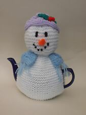 Crystal Snowlady Tea Cosy Knitting Pattern - Knit your own Christmas tea cosy