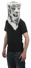 Tiger Mask White Tiger Mouth Mover Moving Jaw Faux Fur Full Over The Head Mask