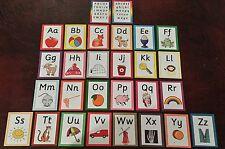 Alphabet Flash Cards - A-Z lower case + capitals - Picture + Phonics sounds
