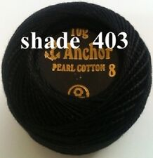 ANCHOR Pearl Cotton Crochet Embroidery Thread Ball. 1 or 4 or 10 / 24 Balls Deal