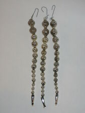 Japan Bead Icicle Silver Antique Glass Ice Christmas Ornament Decoration 1950's