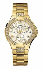 G13537L Guess Gold Tone Stainless Steel Prism Crystal Watch New in Box