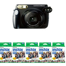 Fujifilm Fuji Instax 210 Wide Instant Film Camera, Black + 100 Prints Film