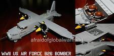Old Photo. Lego Toy Blocks WW2 US Air Force Lockheed Martin B26 Maruader Bomber