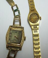 Pair Vintage CLINTON Watches- as is for parts/repair