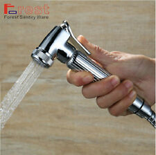 Solid Brass Bidet faucet chrome hand held shower spray Shower head for toilet