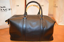 NWT Coach Leather Voyager Large Duffle 52 Travel Bag Black F93469 MSRP $ 795.00