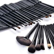 24Pcs Professional Make Up Brush Set Foundation Kabuki Makeup Brushes Case Black