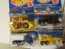 Hot Wheels Lot of (4) Construction types!! All different