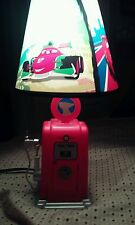 "DISNEY PIXAR CARS BUTTE GAS PUMP-16"" KIDS LAMP-PLASTIC-RED-W/BULB-MODEL BOT-RG1"