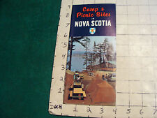 vintage Brochure: c. 1963 camp & picnic sites in NOVA SCOTIA, a bit dirty