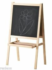 New! Children's Easel with Chalkboard & Dry Erase Board Drawing Artist kids