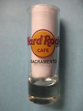 SACRAMENTO,Hard Rock Cafe,Shot Glass,New,Red Circle,Black Letters