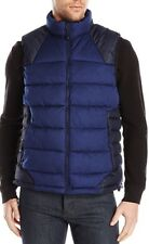 NWT $245 Men's ROBERT GRAHAM Stratford Woven Puffer Vest Navy Blue Sz Small