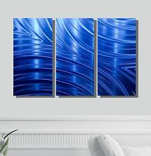 Contemporary Metal Wall Art Sculpture in Blue, Abstract Wall Decor - Jon Allen
