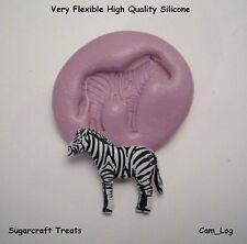 Cebra Animal Fauna Molde De Silicona Pasta azúcar,Cupcakes Tarjetas Toppers,Fimo