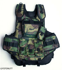 CAMOUFLAGE 4+1 TACTICAL Paintball WOODSBALL Scenario VEST