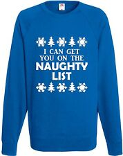 I Can Get You On The Naughty List Sweatshirt Xmas Gift Christmas Jumper Present