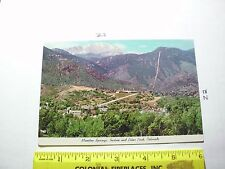 Mt. Manitou Scenic Incline Railway Manitou Springs CO Pikes Peak 1978 made it