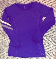 Gap Fit Top Extra Small Womens Running Thumb Holes Reflective Purple