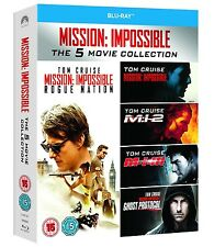 MISSION IMPOSSIBLE 1-5 BLU RAY BOXSET ALL REGIONS 5 DISCS TOM CRUISE