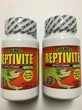 2 - Zoo Med Reptivite Reptile Vitamin & Calcium Powder with D3  2 oz  56.7 g