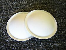 Pair of Yamaha NS-10M White Dust Caps -- Speaker Parts