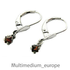 Silber Ohrringe Granat rot silver earrings garnet 800 red