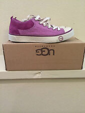 * UGG Womens 5.5 EVERA Canvas Suede Purple Sneakers Casual Shoes 1000452 SGPL