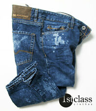 BOSS ORANGE 25 Jeans Spot in 38/34 Regular Fit blue ACID WASH