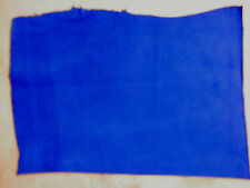 "Bright ROYAL BLUE Suede Cowhide Leather Scraps 8""x12"" avg .9mm thick  #5461"